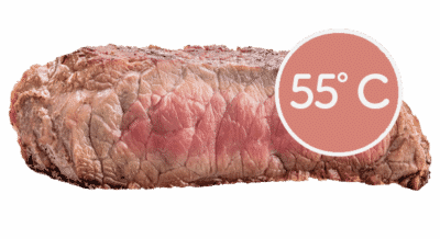 steake braten medium 55 grad