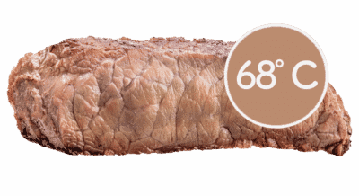 steake braten well-done 68 grad